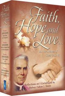 Faith, Hope And Love With Fulton Sheen - Set of Four