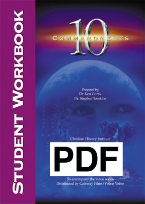 Ten Commandments - Student Workbook (PDF)